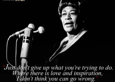 Ella Fitzgerald on Not Giving Up