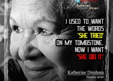 Katherine Dunham on Making It