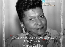 Marva Collins on Success