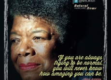 Maya Angelou on Being Normal