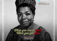 Maya Angelou on Teaching and Giving
