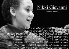Nikki Giovanni on Being Busy