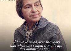 Rosa Parks on Fear