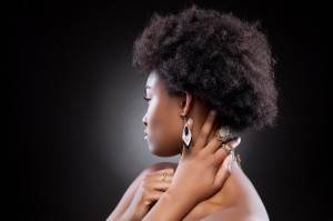 Yblack women with natural hair, afro