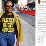 Lupita Wearing a Flexin Shirt