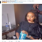 Fans in Disbelief that Angela Simmons' Natural Hair is Hers?